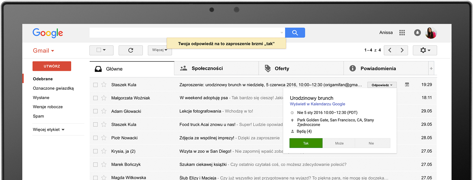Screen poczty Gmail